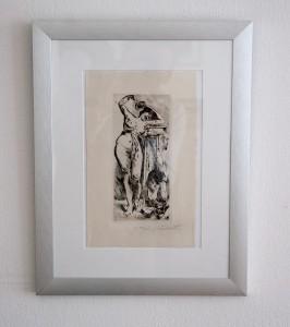 Kaltnadel-Radierung Lovis Corinth, Die Bacchantin, Druckgrafik