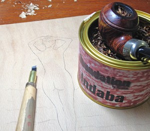 Holzschnitt Indaba