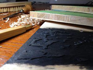 Holzschnitt Druckplatten Irland