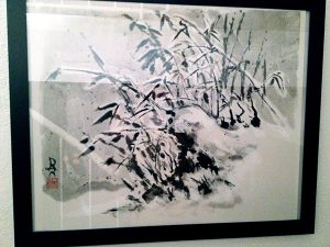Sumi-e Bambus im Schnee Daniel Hammer