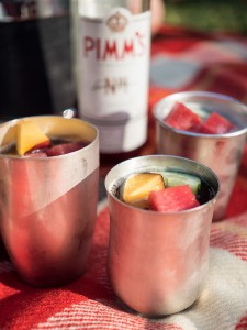 Pimm's Cup Picknick Silberbecher