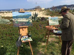 St. Tropez Port Grimaud Plein-Air Ölmalerei